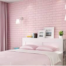 rosa tapetenideen für schlafzimmer schaumziegel tapete