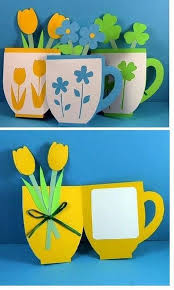 Tea Cup Cards Crafts For Kids