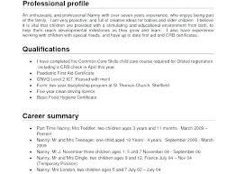 Resume Job Description Examples Nanny Example Sample Teller