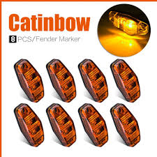 100 Truck Marker Lights Catinbow 8 Pcs Clearance LED Side Light 12V Universal Surface Mount 2 Diodes LED Side Fender Light Trailer Indicator