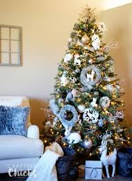 Winter Wonderland Christmas Tree Full Of Little Forest Creatures And Lots Sparkle Imagined Taking