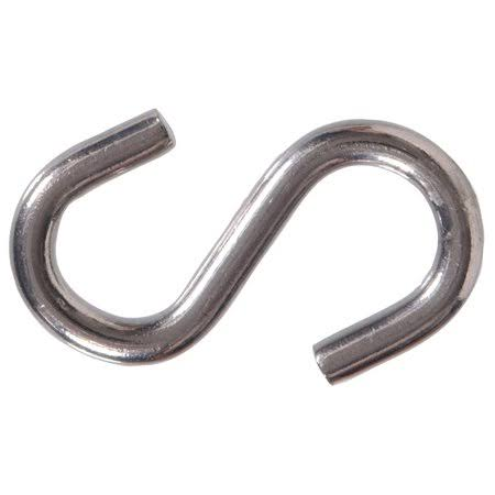 Hillman 2 Inch Stainless Steel S-Hook - 10 Pack