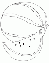 Print And Coloring Pages Watermelon