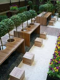Outdoor Cafe With PC Zone Design Idea Bars