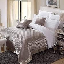 osvino bettläufer jacquard kariert retro exquisite schnell trocken anti bakterie bett deko betttuch für schlafzimmer hotelzimmer silber 240x 155cm