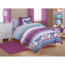 Walmart Purple Bathroom Sets by Mainstays Kids U0027 Purple Butterfly Coordinated Bed In A Bag