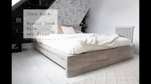 Malm Low Bed by Ikea Hack Rustic Look For Malm Bed Frame Youtube