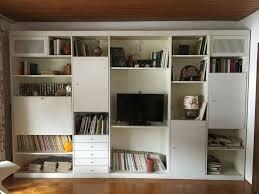 interlübke großer wandschrank wohnzimmer weiß retro schrank 70er