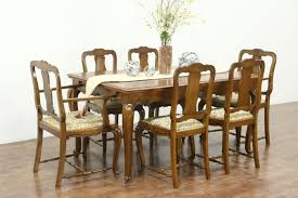 100 Oak Table 6 Chairs SOLD Country French Vintage Dining Set New