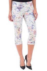lola jeans michelle mid rise capri jeans in summer paradise