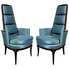 100 High Back Antique Chair Styles Pair Of Luxe MidCentury Modernist S Mid Century