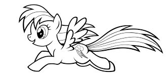 My Little Pony Coloring Pages Rainbow Dash In