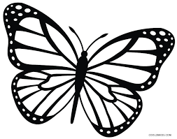 Color Page Butterfly Refundable Colouring Pictures Of Butterflies Printable Coloring Pages For Kids Free