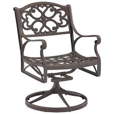 100 Aluminum Folding Lawn Chairs Heavy Weight Home Style Biscayne Swivel Outdoor Arm Chair Rocking Furniture Black