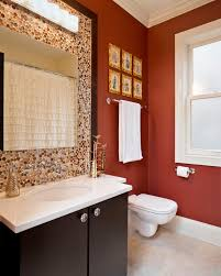 Red Bathroom Paint Ideas | Bath Decors Blue Ceramic Backsplash Tile White Wall Paint Dormer Window In Attic Gray Tosca Toilet Whbasin With Pedestal Diy Pating Bathtub Colors Farmhouse Bathroom Ideas 46 Vanity Cabinet Netbul 41 Cool Half And Designs You Should See 2019 Will Love Home Decorating Advice Wonderful Beautiful Spaces Very Most 26 And Design For Upgrade Your House In Awesome How To Architecture For Bathrooms All About House Design Color Inspiration Projects Try Purple