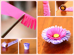 DIY Quilling Fringed Flower Tutorial Step By