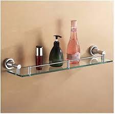 qingh yy badregal schmal ausgeglichenes glas regal 55cm 21