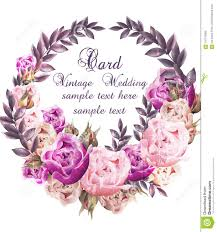 100 Elegant Decor Vintage Wedding Card With Roses Wreath Vector Beautiful Flowers