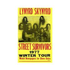 Lynyrd Skynyrd 1977 Winter Tour Concert Poster