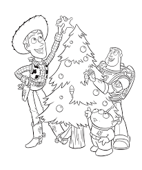 Toy Story Christmas Coloring Page