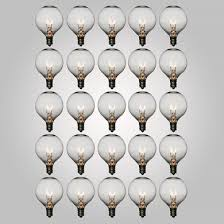 g40 globe light bulbs clear 5 watt c7 base 25 pack