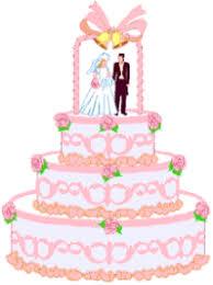 marry marriage wedlock matrimony wedding Pink Wedding Cake clipart