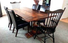 Dining Table Chairs Pine Room Trestle Set Mexican Rustic Style And With Regard To Inspirations 11