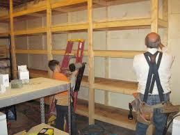 wood basement shelving plans attractive basement shelving plans
