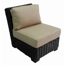 Replacement Patio Chair Cushions Sunbrella by Shop Allen Roth Blaney Brown Wicker Patio Conversation Chair