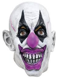 Scary Halloween Half Masks by Clown Masks Partynutters Uk