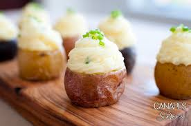 baked canapes rustic roasted potato canapés canapes and soirees