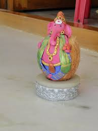 This Coconut Ganapathi Making Is Really Something Out Of The Box Which I Saw N Tried