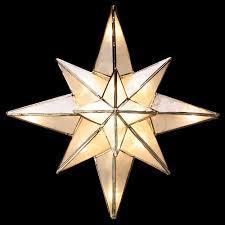 GE Clear Capiz Bethlehem Star Tree Topper