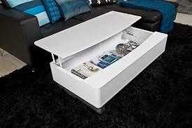 table basse design réglable en bois laqué blanc perma mobilier