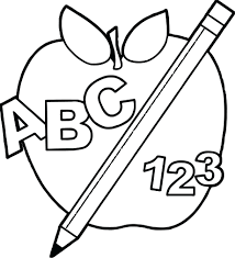 Fruit Coloring Pages For Toddlers Applejack Book Apple School Back To And Pencil Teach Page