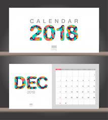 Desk Calendar Modern Design Template With Paper Cut Styles Premium Vector