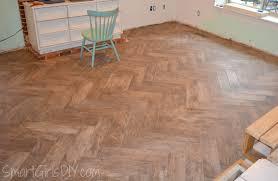 Floor Tile Spacers And Levelers by Grouting A Herringbone Tile Floor Family Room 11