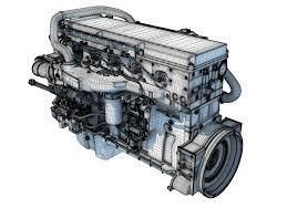 100 Truck Engine Cummins X15 3D Model CGTrader
