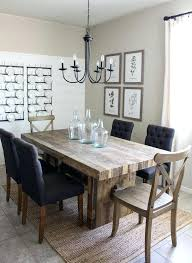Modern Rustic Dining Room Sets Great Farm Table Surprising Set