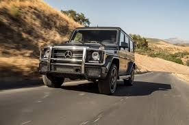 "Mercedes Benz G Class adds G63 AMG model to lineup"" A boxy full"