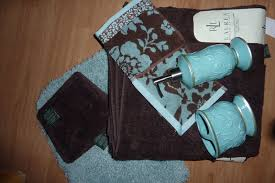 Blue And Brown Bathroom Decor by Rug Patterned Towel Accessories Better Homes Large U0026 Mini Brown