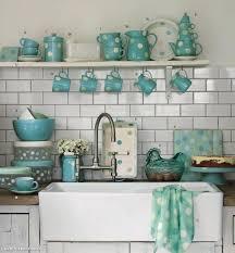 Turquoise Kitchen Accessories Polka Dot Aqua
