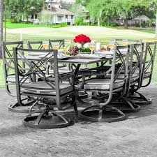 Red Patio Furniture Decor by Patio Silver Metallic Patio Furniture Sets With Red Rose Display