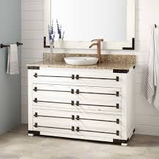 18 Inch Bathroom Vanity Canada by Awesome Reclaimed Wood Bathroom Vanity With Black Countertop And