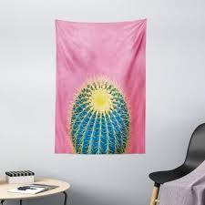 wandteppich wohnzimmer schlafzimmer wandtuch seidiges satin wandteppich abakuhaus rechteckig sommer rosa minimal kaktus entwurf kaufen
