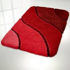 Red And Black Bathroom Rug Set by Cheap Red Bathroom Rug Set Find Red Bathroom Rug Set Deals On