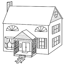 Nice School House Colouring Pages
