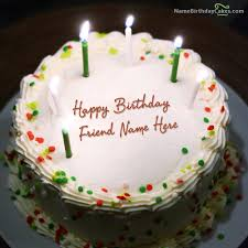 Birthday Cake With Candles With Name