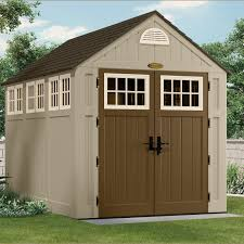 Suncast Outdoor Storage Cabinets With Doors by Amazon Com Suncast Bms8000 7 1 2 Feet By 10 1 2 Feet Alpine Shed