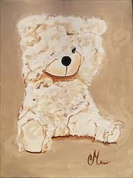 tableau ourson chambre bébé tableau déco thibault l ours en peluche grand format enfant bébé